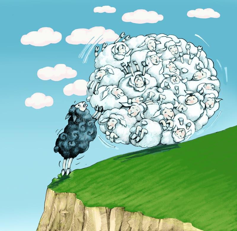 Escute as ovelhas negras pode servir ilustração do vetor