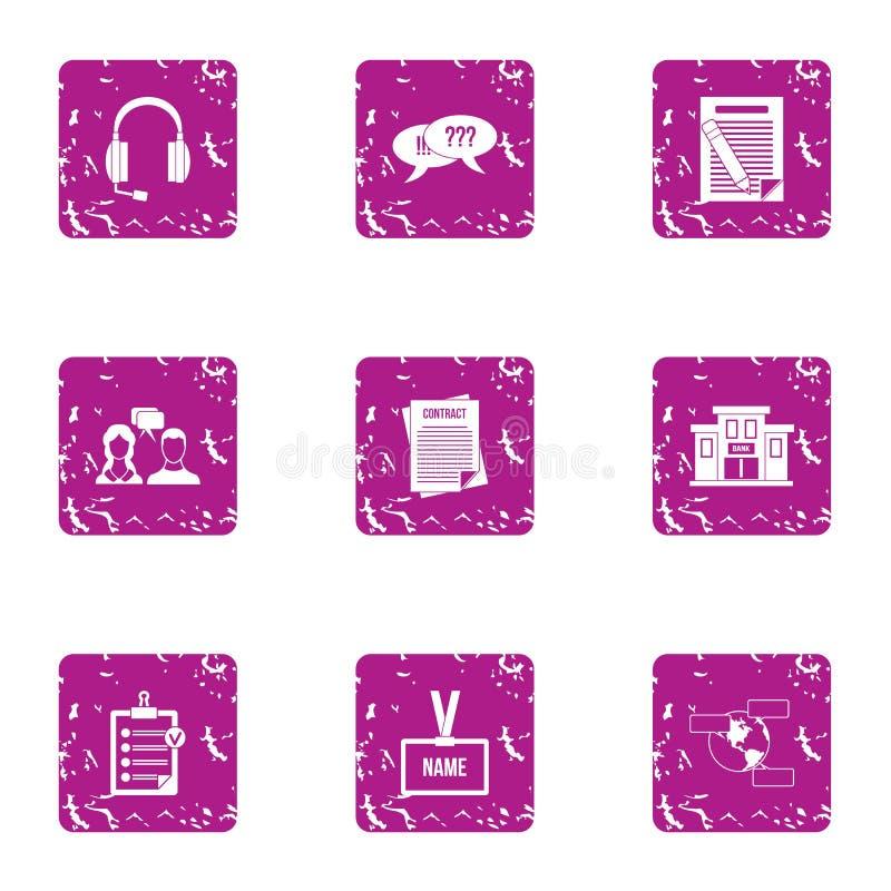 Escute os ícones ajustados, estilo da queixa do grunge ilustração royalty free