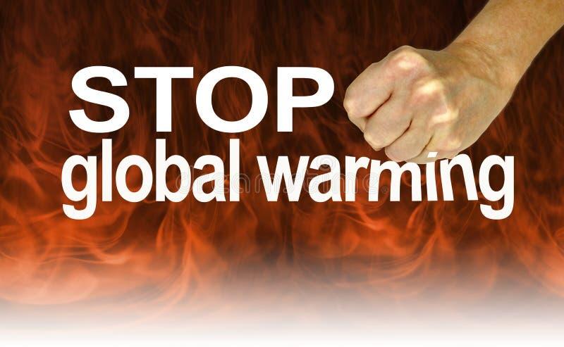 Escute os peritos e pare o aquecimento global fotografia de stock