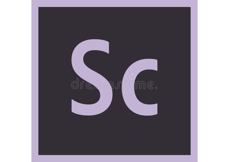 Escuteiro CC Logo de Adobe ilustração stock