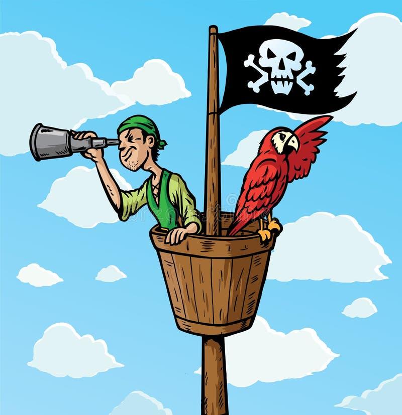 Escuteiro do pirata ilustração royalty free