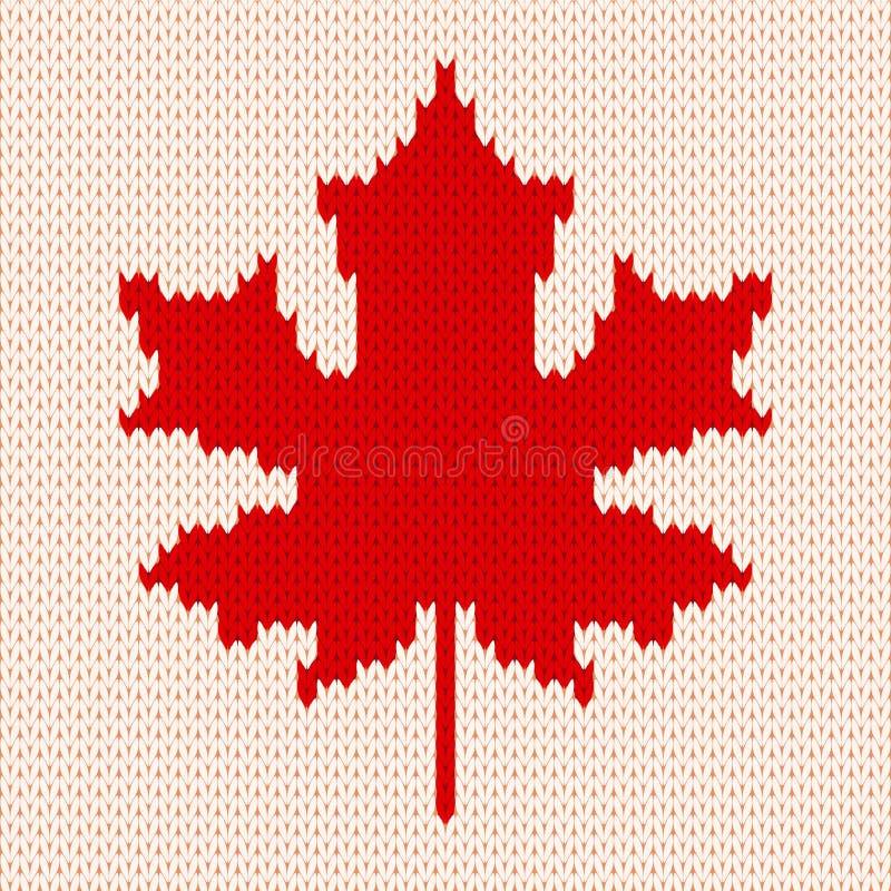 Esdoornblad op wit - Naadloos breiend patroon vector illustratie