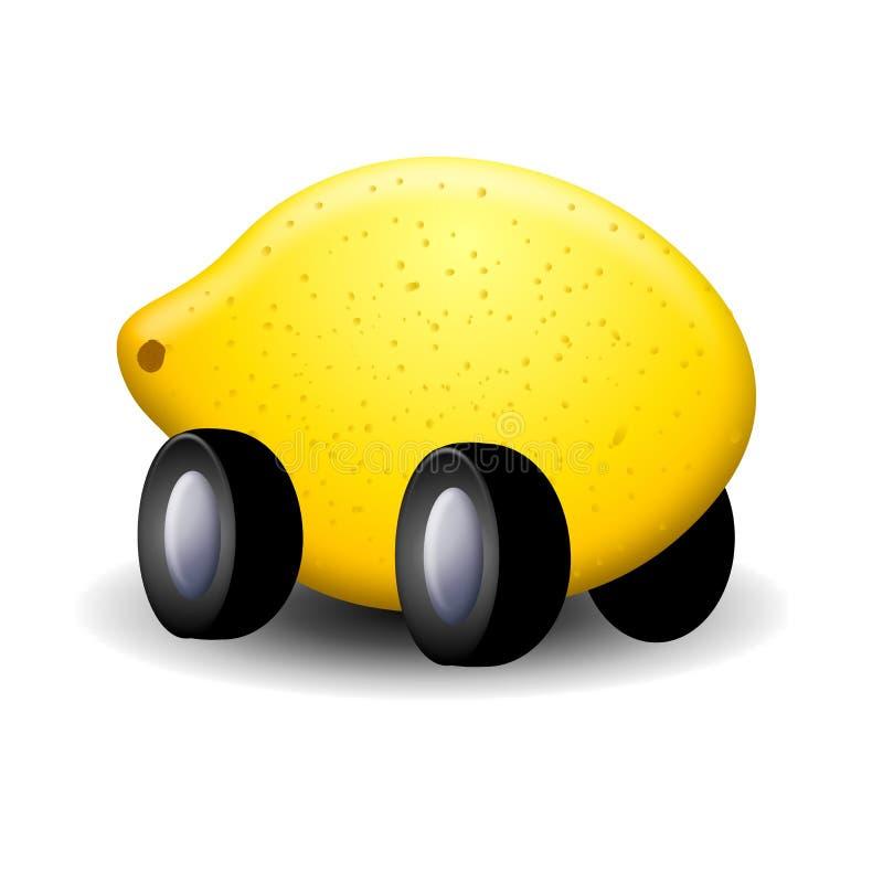 Ese coche es un limón stock de ilustración