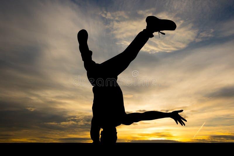 Esecutore di breakdance immagine stock