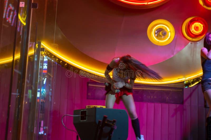 Esecutore femminile Hard Rock Cafe fotografia stock