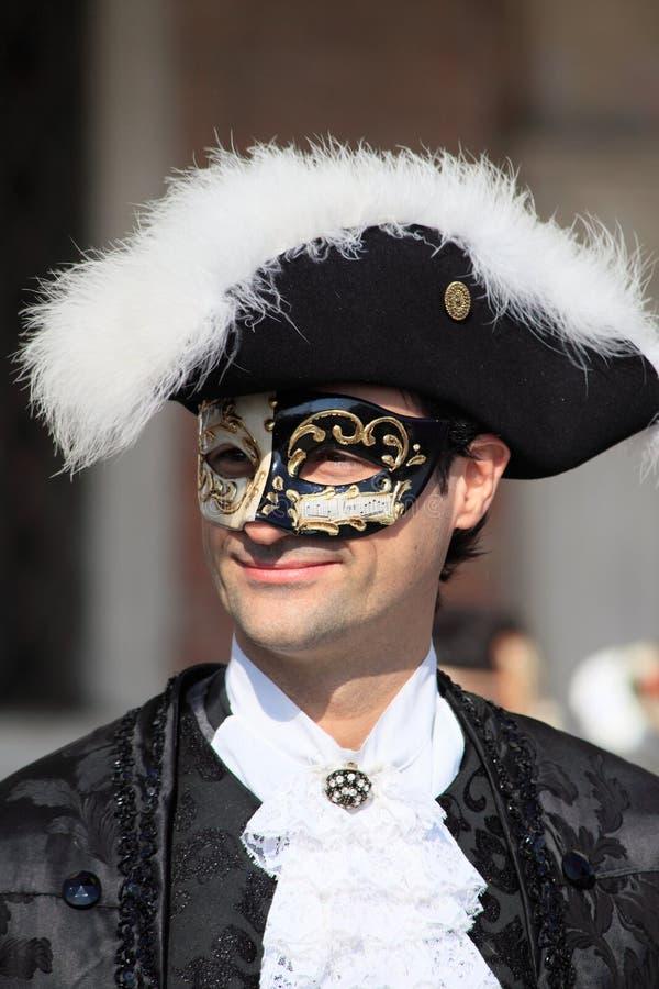Esecutore mascherato al carnevale di Venezia fotografie stock