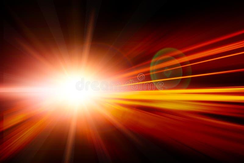 Esecuzione ad alta velocità di affari rapidi di effetto dello zoom della sfuocatura fotografie stock
