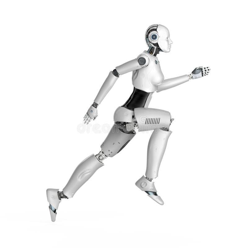 Esecuzione di cyborg o robot femmina illustrazione vettoriale