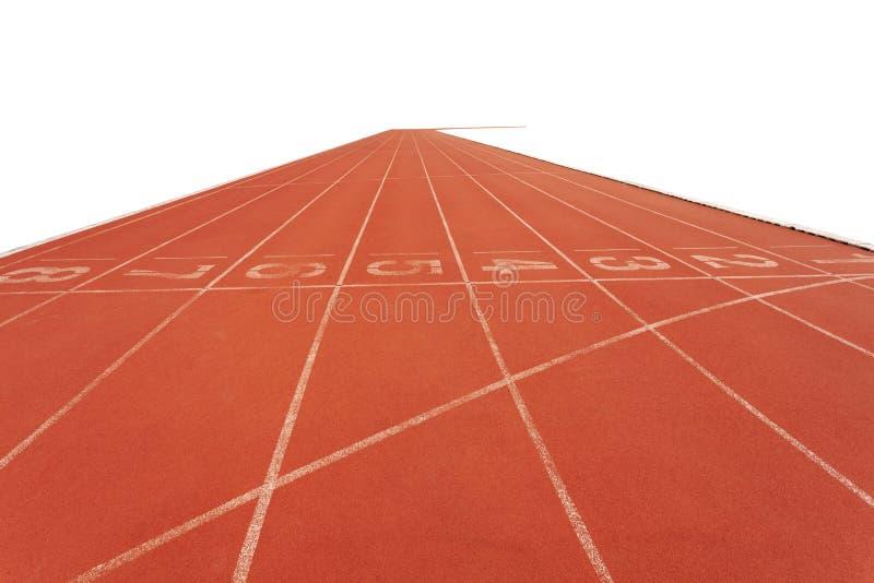 Eseguire le piste in stadio su fondo bianco immagine stock libera da diritti