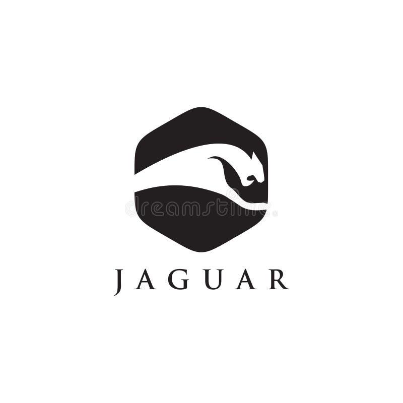 Eseguire progettazione di logo dell'icona del giaguaro illustrazione di stock