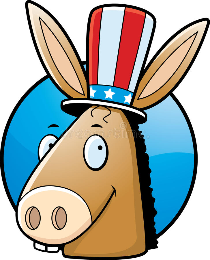 Esel Democrat stock abbildung