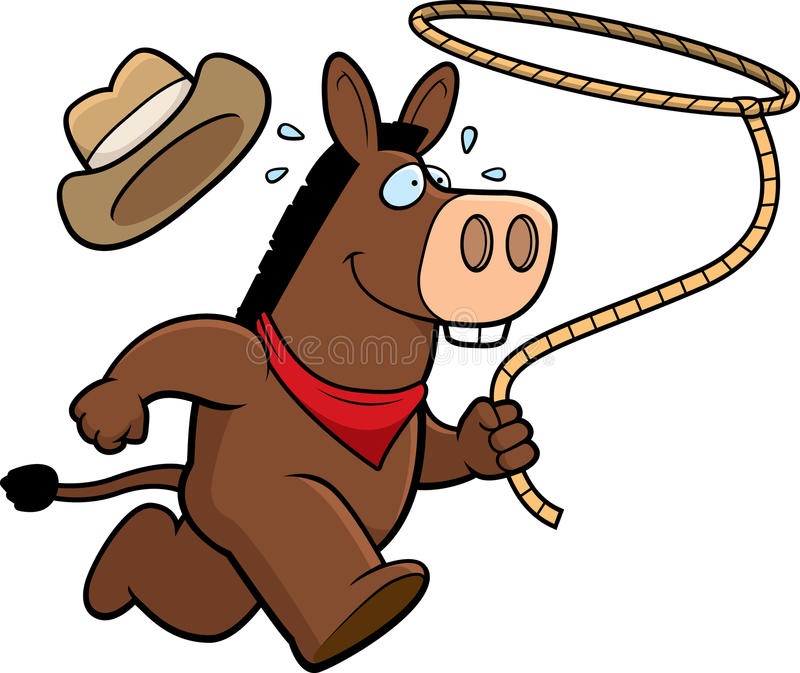 Esel-Rodeo stock abbildung