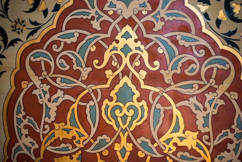 Esempio floreale del modello di arte di tempo dell'ottomano immagine stock libera da diritti