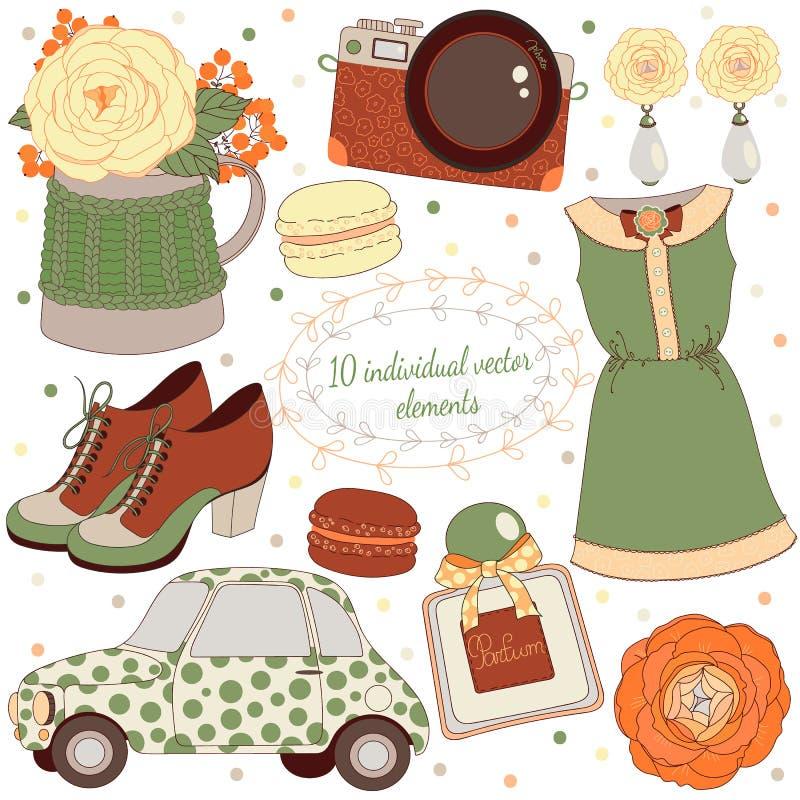 Esencial de la moda stock de ilustración
