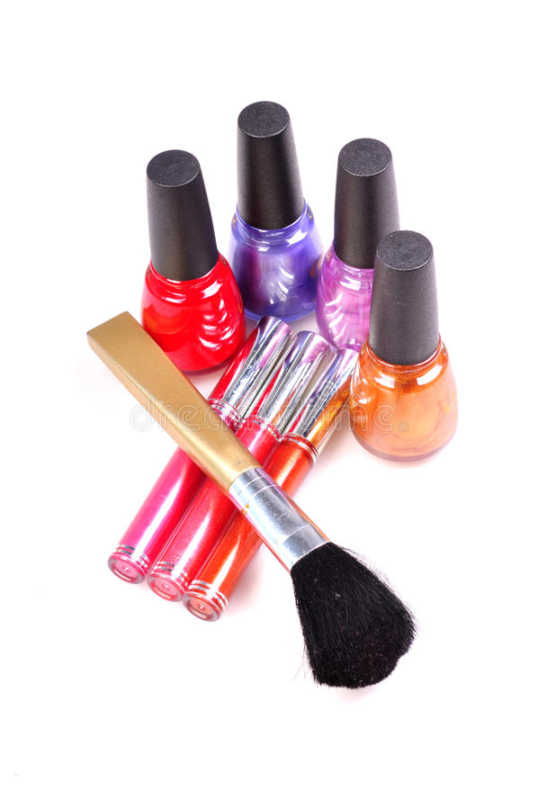 Esencial del maquillaje imagen de archivo libre de regalías