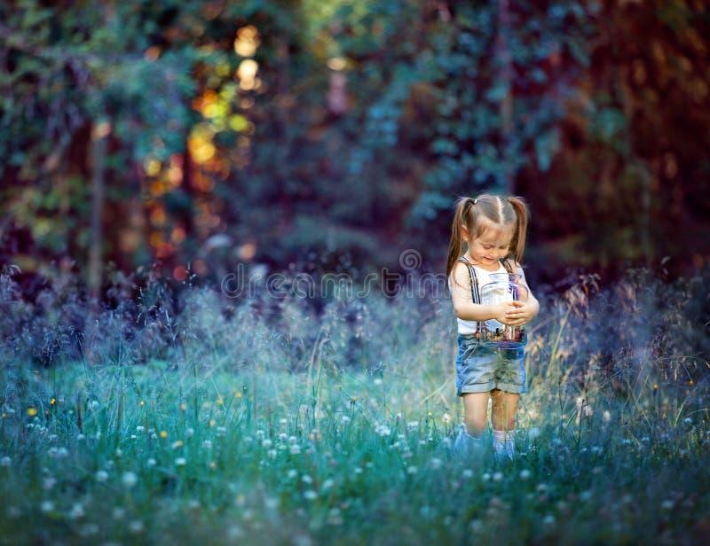Eseniya w lesie fotografia royalty free