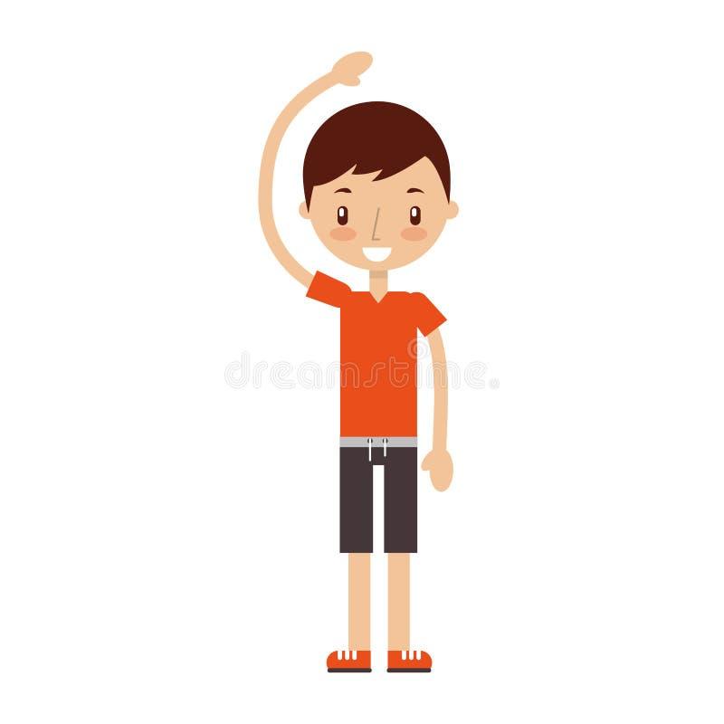 Esercitazione del ragazzo di forma fisica illustrazione vettoriale