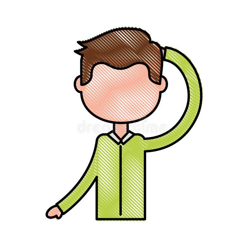Esercitazione del ragazzo di forma fisica illustrazione di stock