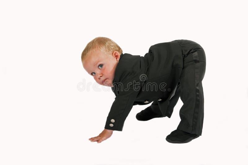 Esercitazione dell'esecutivo del bambino fotografia stock libera da diritti