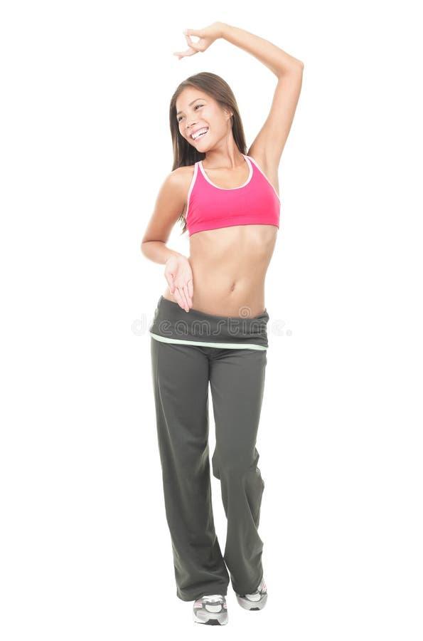 Esercitazione della donna di Dancing immagine stock
