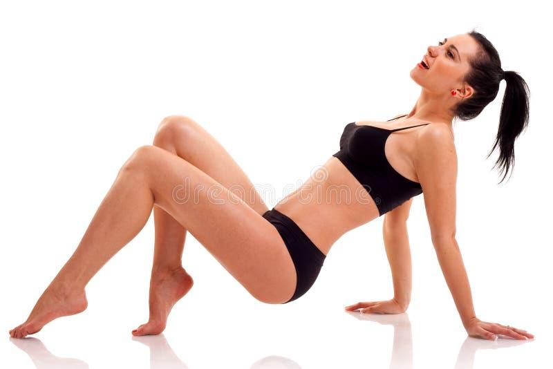 Esercitazione della donna di forma fisica fotografia stock