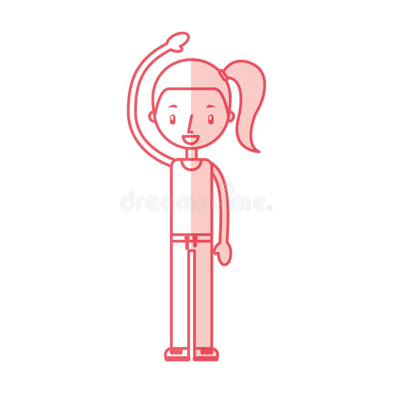 Esercitazione della ragazza di forma fisica illustrazione vettoriale