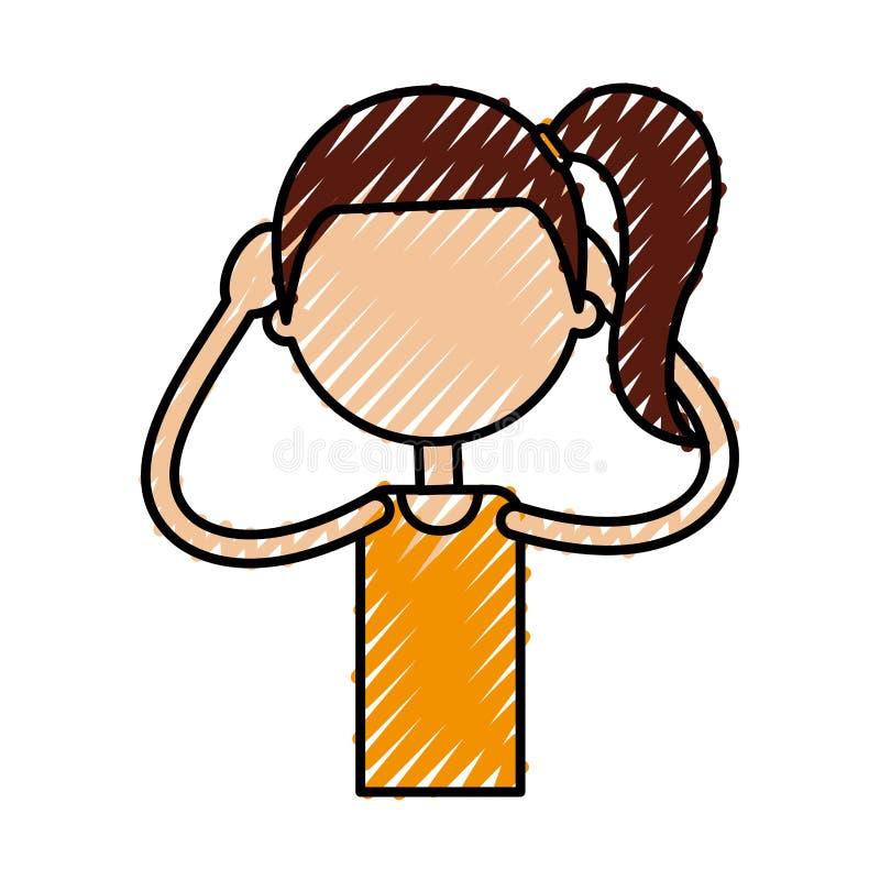 Esercitazione della ragazza di forma fisica royalty illustrazione gratis