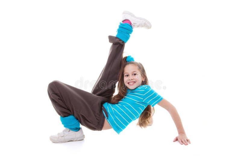Esercitazione di ballo del bambino fotografie stock