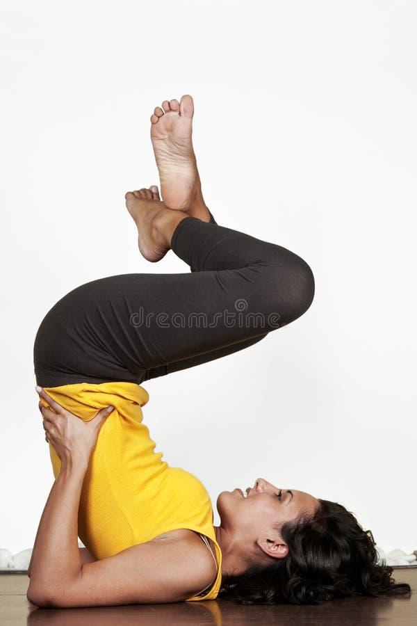 Esercitazione di ginnastica fotografia stock libera da diritti