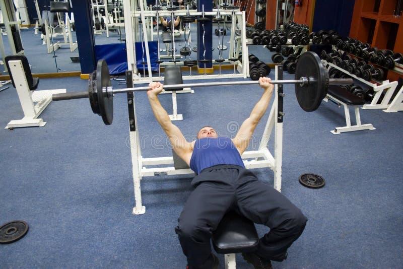 Esercitazioni di forma fisica, ginnastica immagini stock libere da diritti
