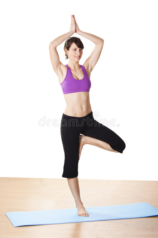 Esercitazioni di yoga fotografie stock