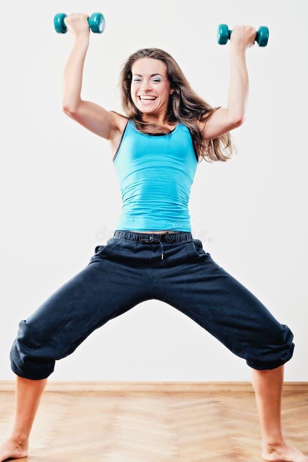 Esercitazioni fisiche fotografia stock