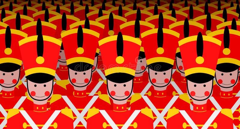 Esercito dei soldati illustrazione di stock