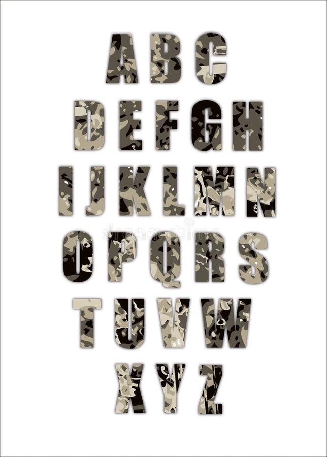 Esercito di alfabeto di Grunge immagini stock