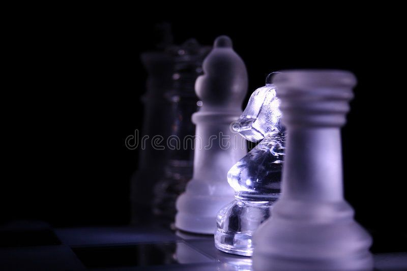 Esercito di scacchi fotografia stock