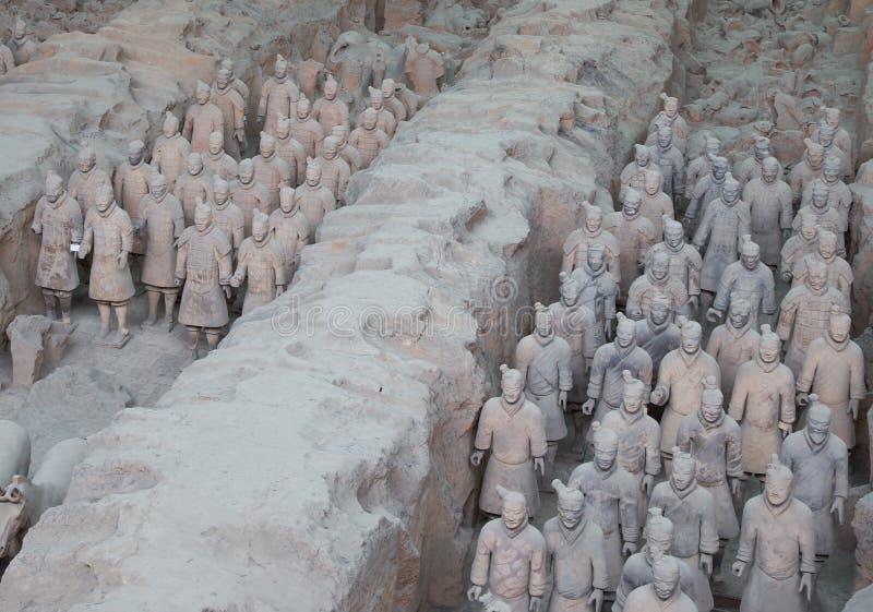 Esercito di terracotta di dinastia di Qin, Xian (Sian), Cina immagine stock