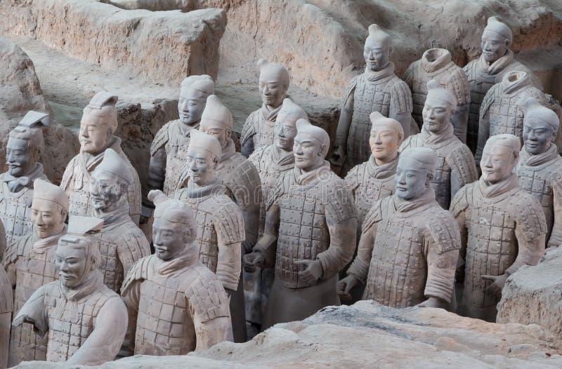 Esercito di terracotta di dinastia di Qin, Xian (Sian), Cina immagini stock libere da diritti
