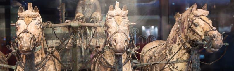 Esercito di terracotta di dinastia di Qin, Xian (Sian), Cina fotografie stock libere da diritti