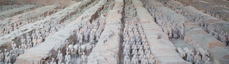 Esercito di terracotta di dinastia di Qin, Xian (Sian), Cina fotografie stock