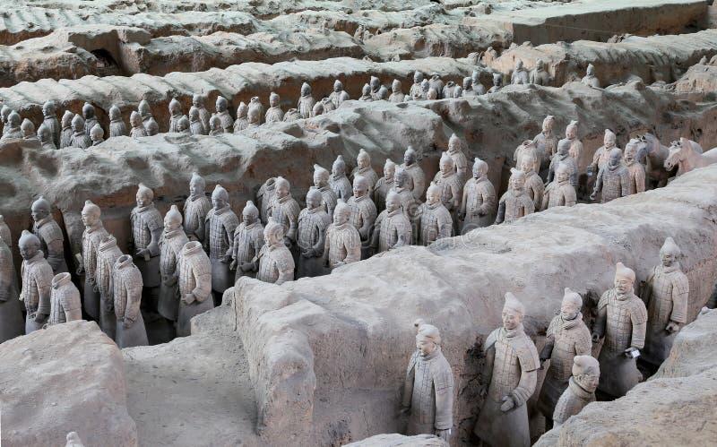 Esercito di terracotta di dinastia di Qin, Xian (Sian), Cina immagine stock libera da diritti