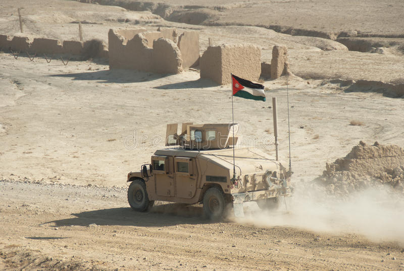 Esercito giordaniano HMMWV fotografia stock libera da diritti