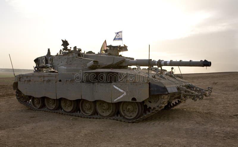 Esercito israeliano corp corazzato, serbatoio Merkava fotografia stock libera da diritti