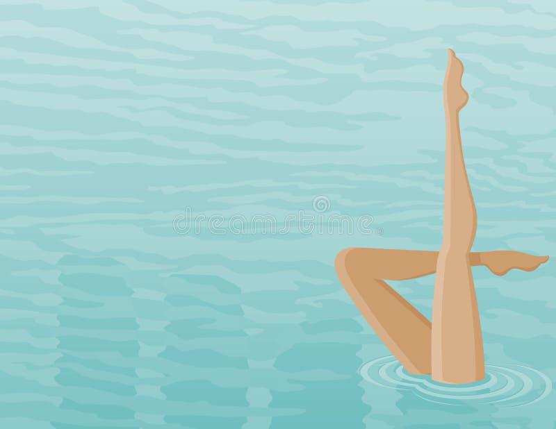 Esercizi di nuoto fotografia stock