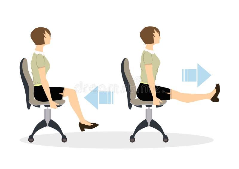 Esercizi di sport per l'ufficio royalty illustrazione gratis