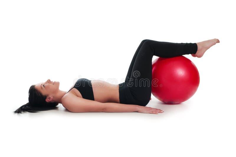 Esercizi per il muscolo di stomaco fotografia stock
