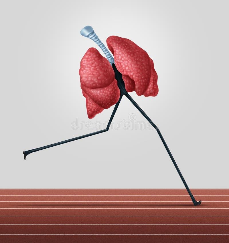Esercizio cardiovascolare illustrazione vettoriale