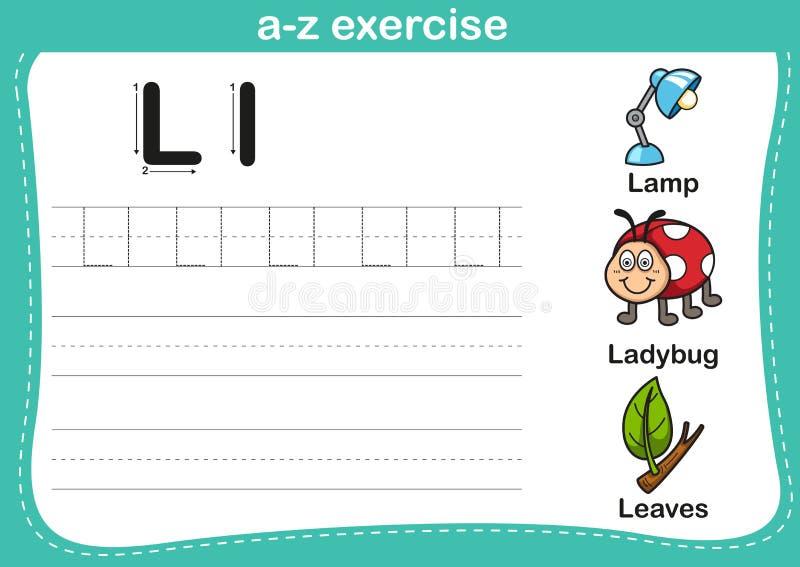 Esercizio di a-z di alfabeto illustrazione di stock