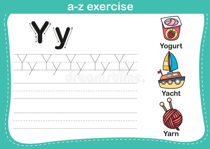Esercizio di a-z di alfabeto illustrazione vettoriale