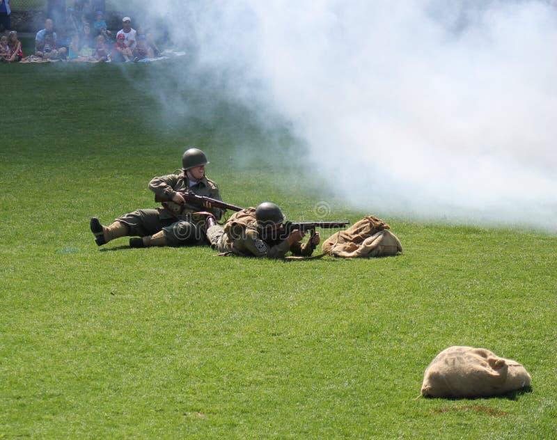 Esercizio militare immagine stock