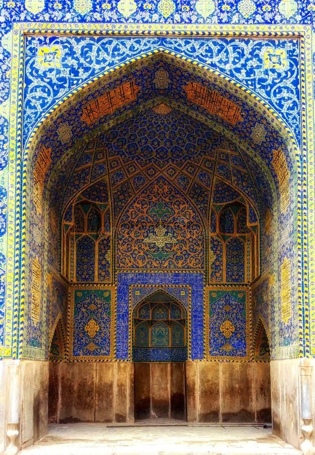 esfahan sheikh μουσουλμανικών τεμενών του Ιράν lotfollah στοκ φωτογραφία με δικαίωμα ελεύθερης χρήσης